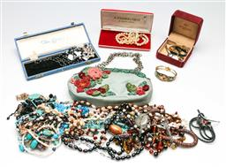 Sale 9209 - Lot 53 - A large collection of costume jewellery incl. pearl necklace, gold plated earrings and others