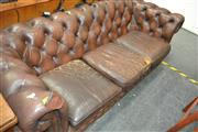 Sale 8066 - Lot 1047 - Chesterfield 3 Seater Lounge (repair to arms)