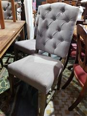 Sale 8724 - Lot 1060 - Set of 6 Fabric Dining Chairs