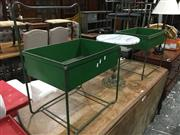 Sale 8740 - Lot 1554 - Pair of Industrial Waste Bins