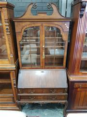 Sale 8831 - Lot 1085 - Continental Antique Style Bureau Bookcase (key in office)