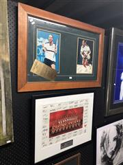 Sale 8850 - Lot 2064 - Signed Sydney Swans and Pat Rafter Framed Pictures