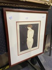 Sale 9050 - Lot 2022 - Martina Winch, Etude de Femme II. colour etching, ed. 6/12, signed lower right