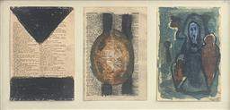 Sale 9257A - Lot 5035 - CHRISTOPHER SNEE (1957 - ) Untitled, c1980 mixed media 16 x 36 cm (frame: 22.5 x 43 cm) signed verso