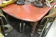 Sale 8058 - Lot 1086 - Timber Dining Table with D Ends