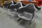 Sale 8260 - Lot 1054 - Set of Six Eames Plastic Tub Chairs by Vitra