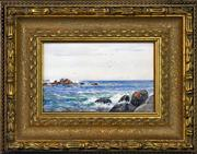 Sale 8316 - Lot 581 - Will Ashton (1881 - 1963) - Coastal Rocks, 1905 15 x 24.5cm
