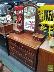 Sale 8455 - Lot 1058 - Mahogany Mirrored Back Dressing Chest