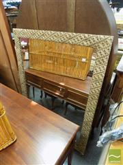 Sale 8483 - Lot 2037 - Fabric Framed Mirror