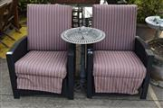 Sale 8550 - Lot 1343 - Pair of Plastic Weave Recliners