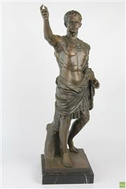 Sale 8572 - Lot 82 - Large Cast Bronze Style Figure of Caesar