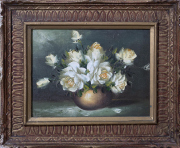 Sale 8677B - Lot 626 - Upton, Still Life with Roses, oil on canvas, 22cm x 29cm