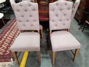 Sale 8740 - Lot 1537 - Set of 6 Fabric Dining Chairs