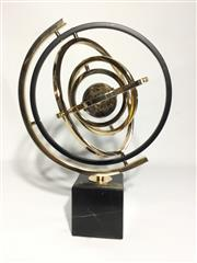 Sale 9080G - Lot 15 - Armillary Globe Decoration On Marble Stand .General Wear,Size 42cm H