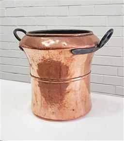 Sale 9126 - Lot 1146 - French copper water carrier with 2 handles