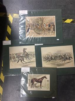 Sale 9130 - Lot 2059 - Group of (7) various handcoloured engravings from The Sporting and Dramatic Times & The Graphic (mounted, unframed)