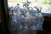 Sale 7874 - Lot 86 - Crystal & Glass Decanters & Claret Jugs (167)