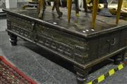 Sale 8058 - Lot 1028 - Indian Lift Top Coffee table