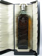 Sale 8225 - Lot 1739 - 1x Johnnie Walker Blue Label - Alfred Dunhill Limited Edition Rare Blended Scotch Whisky - 1000ml in presentation box