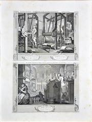 Sale 8347A - Lot 24 - William Hogarth (1697 - 1764) After. - Industry and Idleness (12 plates) 27 x 35cm, each (plate size); 63 x 47cm, each (sheet size)