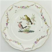 Sale 8399 - Lot 77 - Meissen 18th Century Academic Period Ornithological Plate