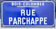 Sale 8530A - Lot 231 - A vintage French enamel street sign for