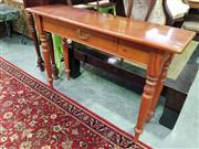 Sale 8657 - Lot 1083 - Pine Hall Table w Single Drawer