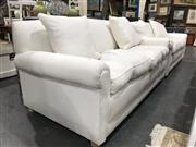 Sale 8809 - Lot 1052 - Pair of Fabric Two Seater Lounges