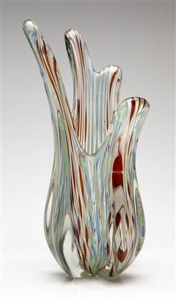 Sale 9209V - Lot 97 - An art glass vase with candy twist effect (H:31cm)