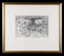 Sale 7923 - Lot 556 - John Perceval - Ladders 1986 signed with initials lower right