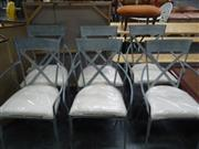 Sale 7969A - Lot 1005 - Set of 6 Zinc Chairs with Cushions