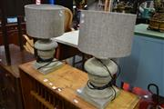 Sale 8115 - Lot 1170 - Pair of Composite Base Table Lamps