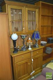 Sale 8326 - Lot 1661 - Pine Buffet and Hutch
