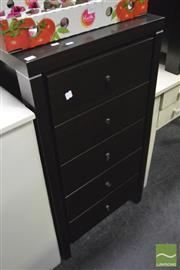 Sale 8347 - Lot 1081 - Slim Chest of Five Drawers
