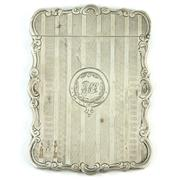 Sale 8356 - Lot 34 - English Hallmarked Sterling Silver Victorian Calling Card Case