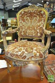 Sale 8386 - Lot 1018 - Gilt Framed Armchair