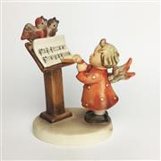 Sale 8456B - Lot 88 - Hummel Figure of a Girl Angel Singing with Birds