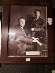 Sale 8645 - Lot 2096 - Percy Grainger & Friend Print
