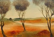 Sale 8683 - Lot 535 - Kevin Charles (Pro) Hart (1928 - 2006) - On the Dirt Track 17 x 24cm