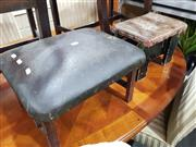 Sale 8740 - Lot 1322 - Rustic Leather Top Foot Stool and Another