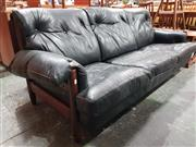 Sale 8930 - Lot 1037 - Danish Rosewood 3 Seater Leather Lounge