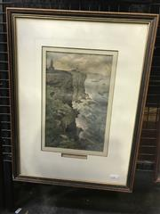 Sale 9024 - Lot 2033 - Frederick B Schell, Sydney Heads from the South, hand coloured engraving, 49 x 37cm (frame)