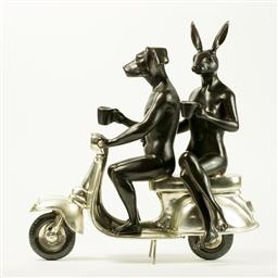 Sale 9084A - Lot 5010 - Gillie and Marc - They Were The Authentic Vespa Riders in Rome 23 x 9 x 21 cm