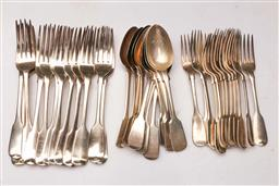 Sale 9122 - Lot 51 - Mixed Suite of Hallmarked Sterling Silver Cutlery (wt 1.9kg)