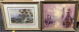 Sale 9103 - Lot 2093 - Group of (17) Assorted Australian School Paintings and Watercolours incl. Marcia Kirby