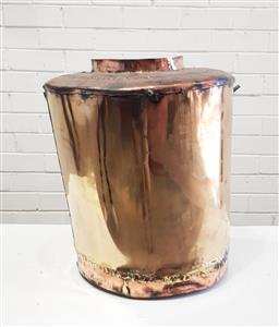 Sale 9126 - Lot 1169 - Large brass and copper water carrier