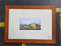 Sale 9127 - Lot 2076 - watercolour of a Tuscan Villa by an unknown artist, frame: 43 x 58 cm, unsigned -