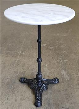 Sale 9183 - Lot 1073 - Round Marble Top Table (50 x 75cm)