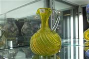Sale 7977 - Lot 1 - Victorian Yellow Glass Enamelled Jug