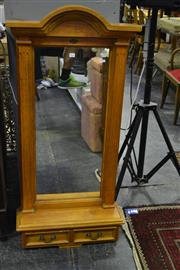Sale 8031 - Lot 1073 - Pine Mirror w Shelf